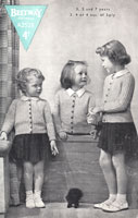 vintage girls cardigan knitting pattern from 1940s