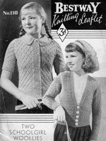 girls cardigan knitting pattern from 1930s vintage