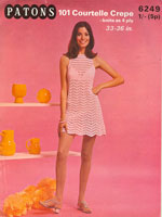 1960s summer mini dress knitting patterns