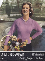 ladies summer jumper knitting pattern