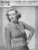 bestway ladies cardigan pattern