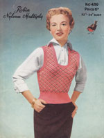 vintage 1950s ladies knitting pattern
