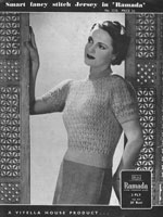 vintage ladies 1940 knitting patterns