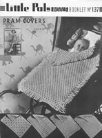 vintage baby pram cover cot cover knitting pattern 1930s vintage knitting patterns
