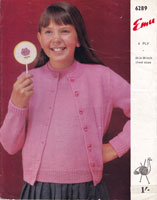 childrers girls jumper cardigan knitting patterns 1960s