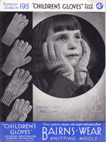 vintage glove knitting patterns for child