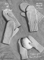 vintage knitting pattern for gloves
