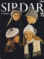 vintage hat knitting pattern for children