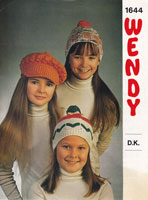 vintage knitting pattern for childs hats
