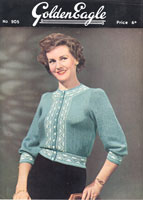 vintage golden eagle cardigna knitting pattern fair ilse from 1940s