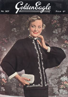 vintage ladies evening jacket knitting pattern from 1940s golden eagle 907