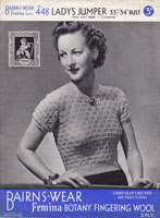 vintage ladies knitting pattern 1940