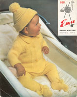 pram set vintage knitting pattern for baby