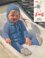 pram set for baby vintage knitting pattern