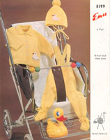 vintage baby pram set knitting pattern
