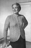 vintage ladies jacket knitting pattern for the fuller figure 1940s