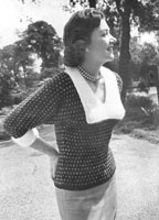 vintage ladies jumper knitting pattern from 1950s fuller figure
