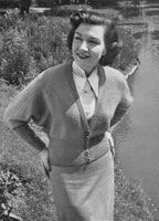vintage ladies dolman cardigan knitting pattern for the fuller figure