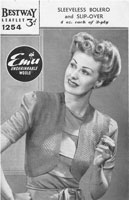 vintage ladies bestway bolero knitting pattern 1940s