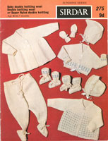 vintage layette knitting pattern for baby