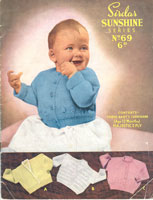 vintage baby knitting pattern for cardigans