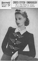 vintage knitting pattern for ladies fair isle 1940