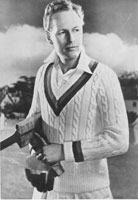 vintage mens cricket jersy knitting pattern 1940s