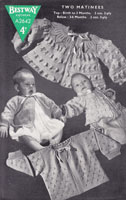 vintage baby 1940s knitting patterns matinees jackets