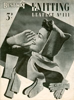 vintage service ladies knitting pattern 1940