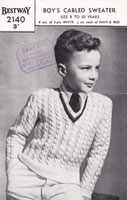 vintage cricket 1950s knitting pattern