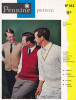 vintage mens knitting pattern 1960s
