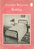 vintage knitting pattern for bedspread