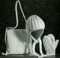 aran bag knitting pattern