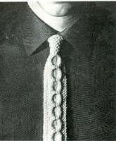 vintage knitting pattern for mans tie