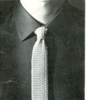 vintage knitting pattern for fair isle tie