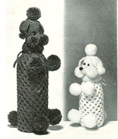 poodle bottle covers knitting pattern