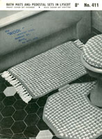 vintage knitting pattern for bathroom set