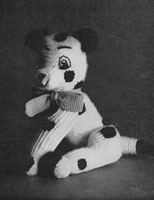 vintage toy dog knitting pattern 1950s