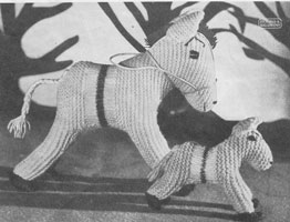 vintage toy horse knitting pattern 1950