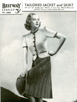 vintage knitting patterns jacket