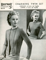 vintage jumper and cardigan knitting patterns