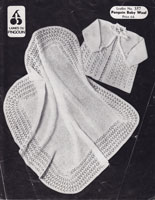 vintage shawl knitting pattern 1950