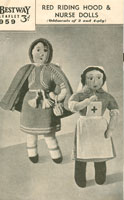 wartime doll nurse and red riding hood knitting pattern
