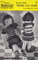 1940s Wartime WW2 knitted Doll vintage knitting pattern