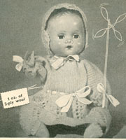 vintage dolls knitting pattern