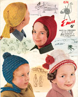 vintage childs hat knitting patterns