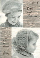vintage knitting pattern for babies hats