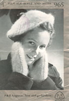 vintage knitting pattern for girls hats