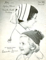 vintage knitting pattern for alice band hat