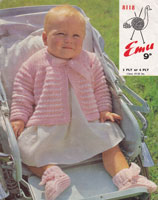 vintage baby matinee coat knitting pattern 1960s